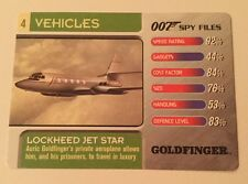 Goldfinger Lockheed Jet Star #4 Vehicles - 007 James Bond Spy Files Card
