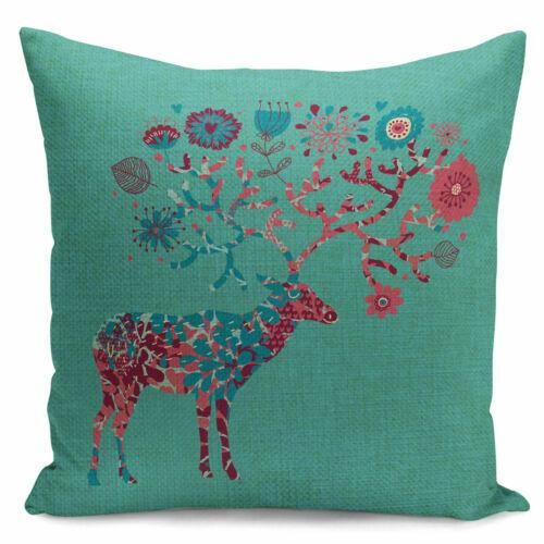 18/'/' Deer Print Pillow Cover Throw Pillow Case Home Decor Cushion Cover Fashion