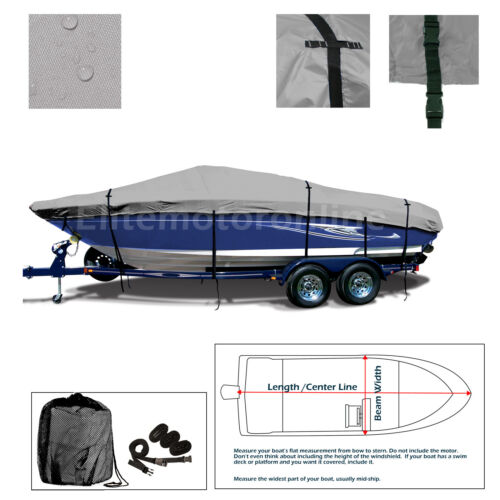 Cobalt 200 Bowrider BR Deluxe Trailerable All Weather Storage Boat Cover Gray