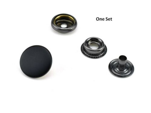 15 Sets 17mm Matte Black Heavy duty  Poppers Snap Fastener Sewing Leather Button