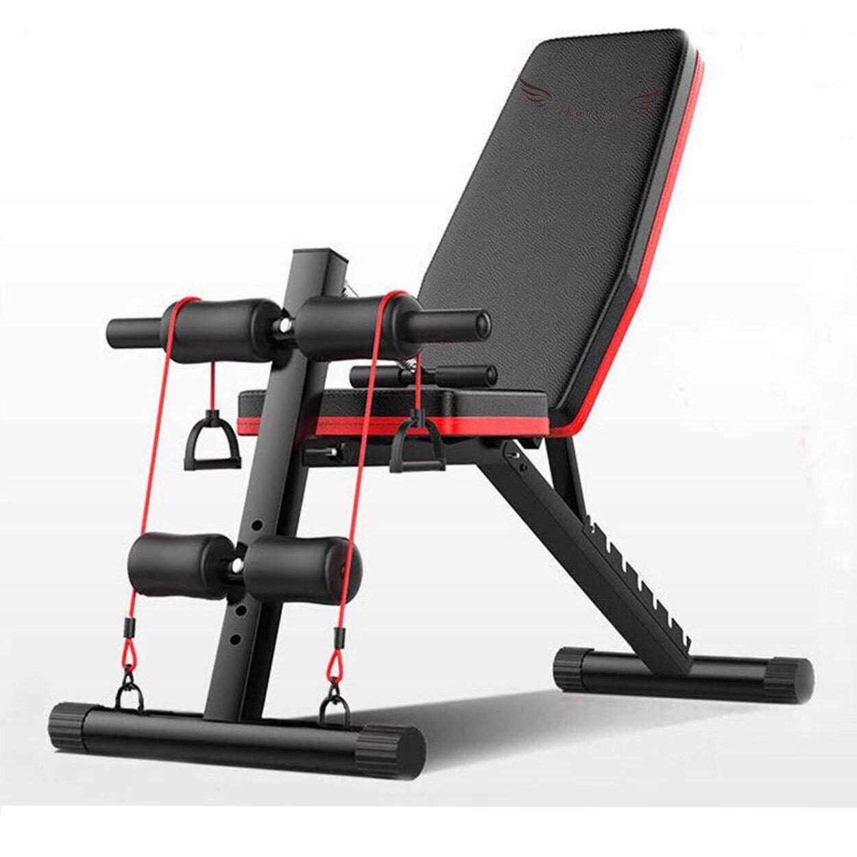 Banco de Pesas Ajustable para Fitness Multifunción para Entrenamiento Completo