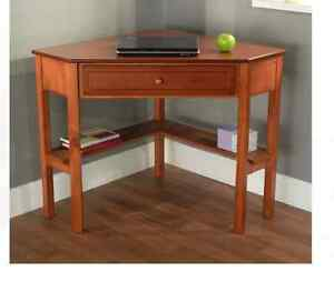 Small Writing Desks Cherry With Drawer For Home Office Corner