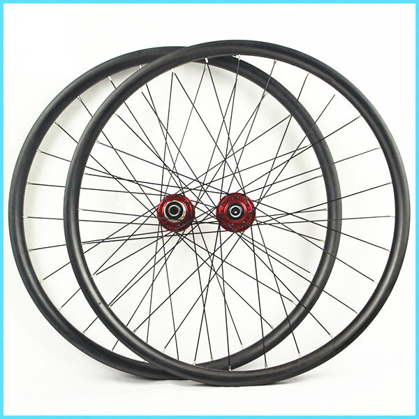29er Mtb Carbon Wheelset 30mm Wide Hand Build Mtb Xc Racing Light
