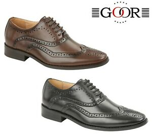 BOYS-FORMAL-SMART-Wedding-Lace-Up-Shoes-Black-Brown-Size-10-11-12-13-1-2-3-4-5