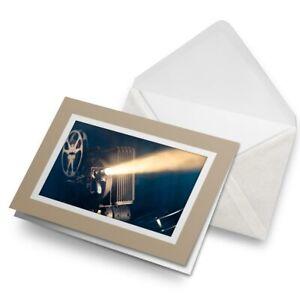 Greetings-Card-Biege-Retro-Cinema-Film-Projector-Projectionist-24106