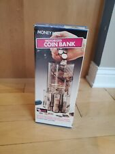 Vintage Money Mill Motorized Coin Bank Sorts Stacks Counts Coins Open Box
