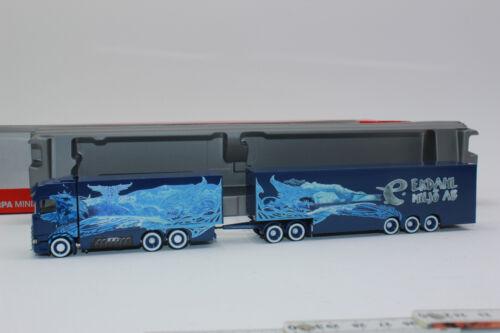 Herpa 309844 Scania Cs 20 Toit Surélevé Eurocombi Ekdahl Arctique Griffin 1:87