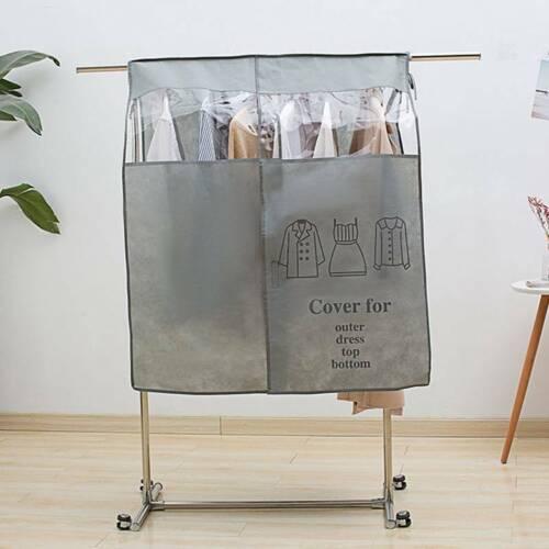 Clothes Dust Cover Bag Wardrobe Closet Hanger Rack Organizer Transparent Affable