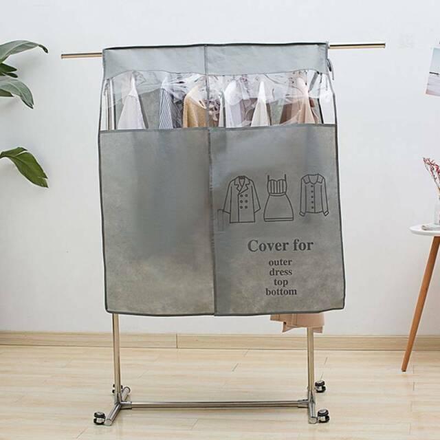Clothes Dust Cover Bag Wardrobe Closet Hanger Rack Organizer Transparent New For Sale Online