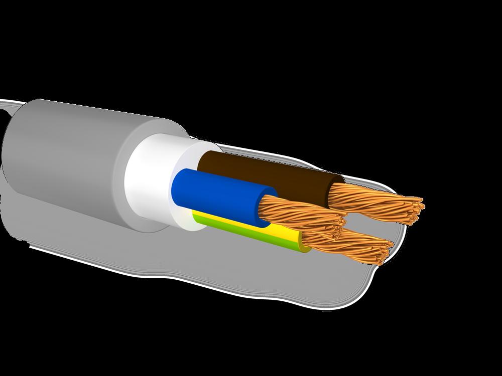 FG16OR16-0, 6/1KV Cable Flameproof Flex Grey 4x1, 5 Mmq (Ex FG7OR)