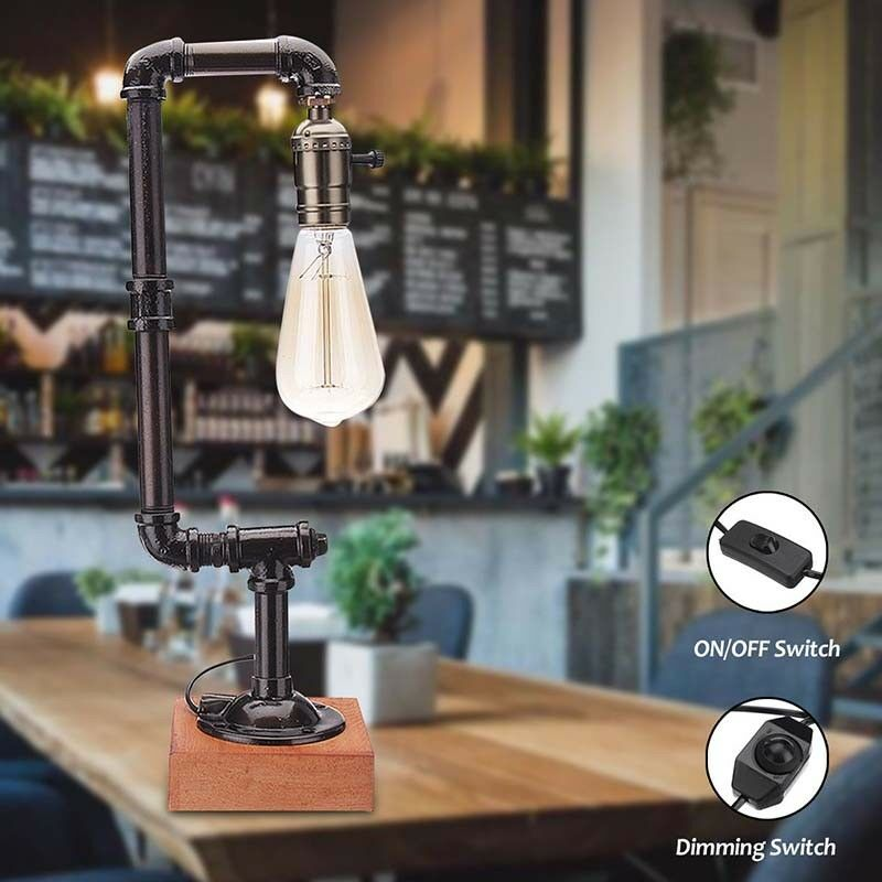 Metal Retro High Table lamp E27
