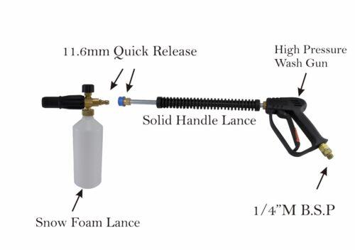 """Pistola de liberación rápida Compacto Lavado Jet Lance y Nieve Espuma 1//4/"""" b.s.p de entrada"""