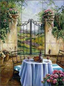 Tuscan-Tile-Backsplash-Cook-Courtyard-Landscape-Art-Ceramic-Mural-GCS002
