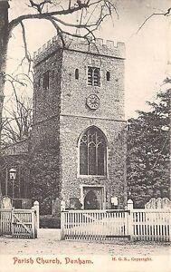 POSTCARD-BUCKINGHAMSHIRE-DENHAM-Parish-Church