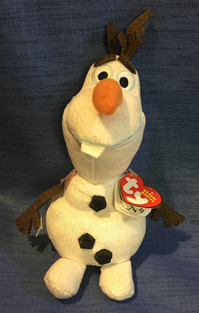 Ty Disney Frozen Olaf Glitter 38 cm Plüsch Eiskönigin mit Sound