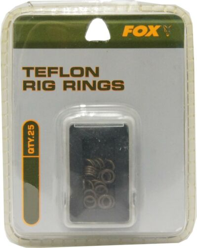 Karpfenzubehör 25 Fox Teflon Rig Rings rund Ringe zum Karpfenangeln Boilierigs