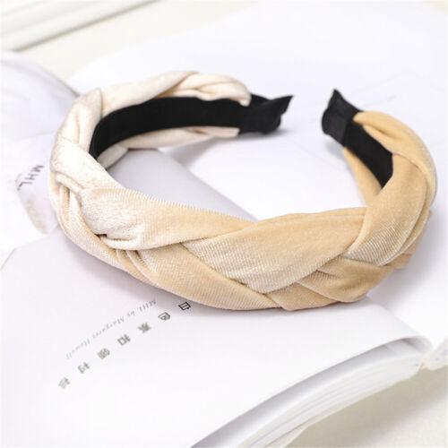 Women Soft Headband Alice Band Top Knot Fashion plain Headband Twist Hairband