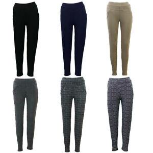 Women-039-s-Stretch-Leggings-Skinny-Slim-Pants-w-Pockets-Casual-Trousers