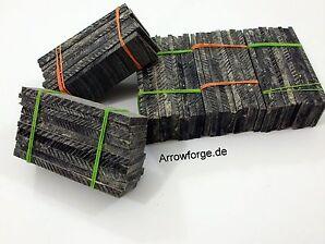 50 Stück Hornplatten Hornscheiben 75x25mm  3 - 5mm Dick Büffelhorn Horn