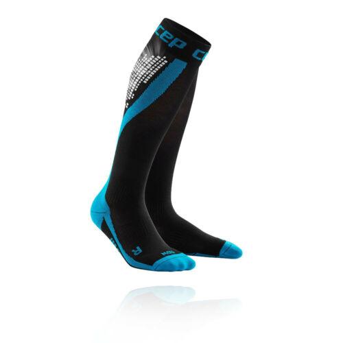 CEP Mens Compression Sock Black Blue Sports Running Gym