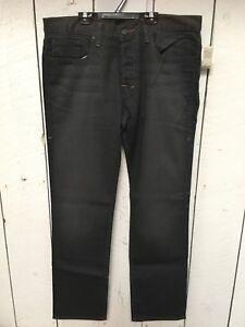 Nwt-William-Rast-men-039-s-Jake-Straight-grey-Jeans-Size-36-Retail-215