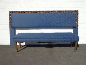 2pc-Headboard-Bench-Upholstered-Bed-King-Size-Blue-Navy-Archlace-Hollywood-Glam