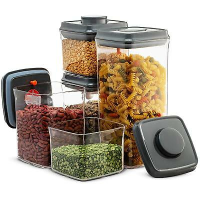 Airtight Food Storage Containers - 5 Piece Set- Easy To Open and Lock Pop  Lids