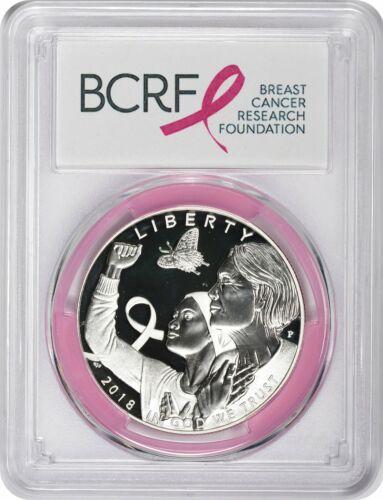 2018-P Breast Cancer Awareness Commem Dollar PR69DCAM PCGS First Strike Pink