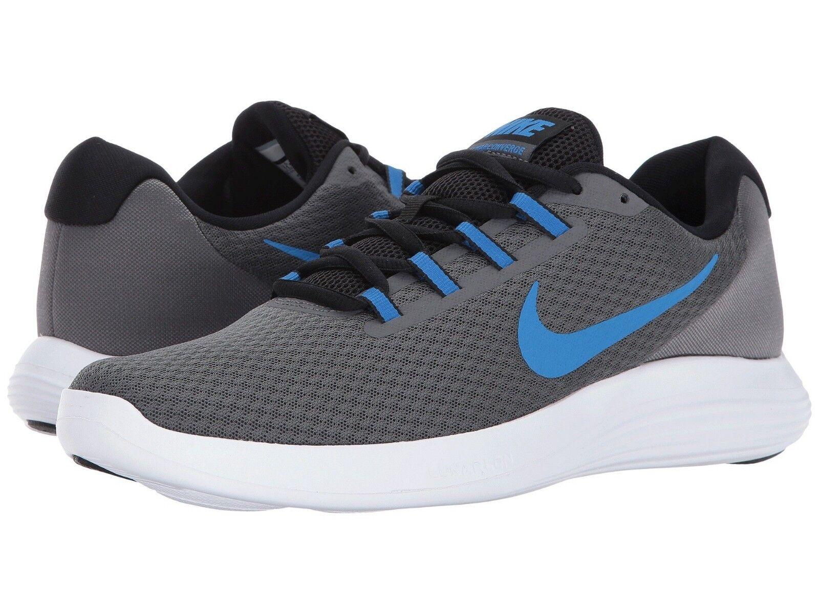 Nike Lunar Converge Running Shoe Mens Size 9.5 Grey Italy Blue 852462 008