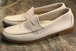 BASS-WHITNEY-NATURAL-SOLE-WEEJUNS-size-8-Womens-Preppy-Spring-Time