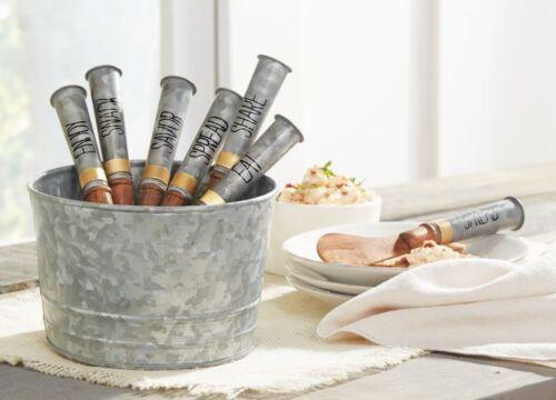 Mud Pie E8 Bistro Kitchen Dining Mango Wood Tin Spreader 4634018 Choose Design
