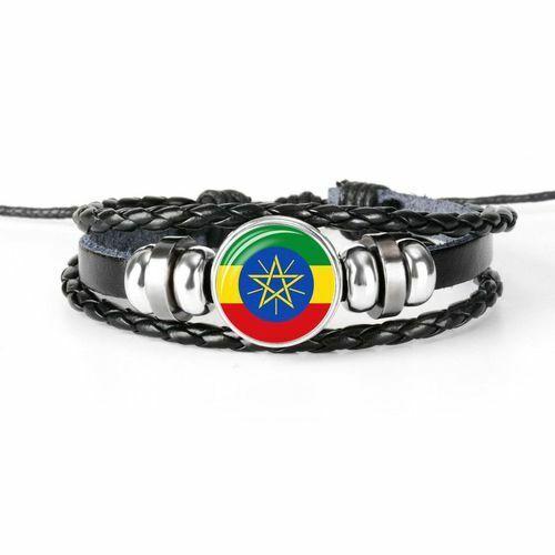 Damen Herren Surferarmband Äthiopien ኢትዮጵያ Chunk Armband Geschenk Orient
