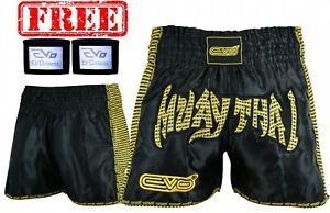 EVO Pro Pantaloncini Da Lotta Muay Thai MMA Kick Boxing Arti Marziali Gear GRAPPLING UFC