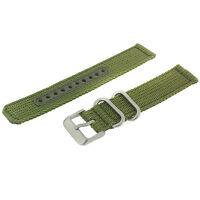 Seiko Original Nylon Watch Band Stainless Heavy Buckle 18 Millimeters