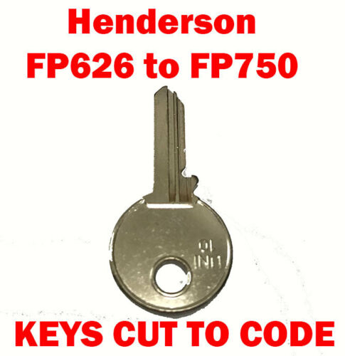 Henderson FP626 to FP750 Garage Door Replacement Keys Cut to Code