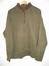 North River Outfit Green Cotton 1/4 Neck Zip Pull Over Shirt Jacket Mens XL NY14