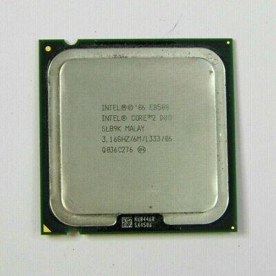 Intel Core 2 Duo E8500 CPU Dual Core 3.16GHz 775 Pin Processor