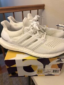 Details about Adidas Ultra Boost 1.0 Triple White S77513 Size 11.5