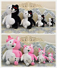 4 Sizes Dangan Ronpa Kuma Monokuma Rabbit Black Pink White Plush Doll Cosplay