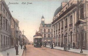 POSTCARD    YORKSHIRE   DONCASTER   High  Street    Circa    1905