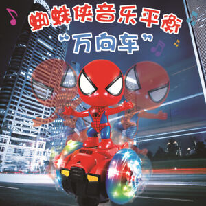 Electric-Universal-Spiderman-Balance-Car-Toy-Hand-Model-Music-Light-Dance-Robot