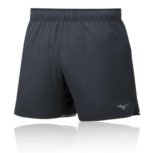 Mizuno Mens Alpha 7.5 2In 1 Running Shorts Pants Bottoms Black