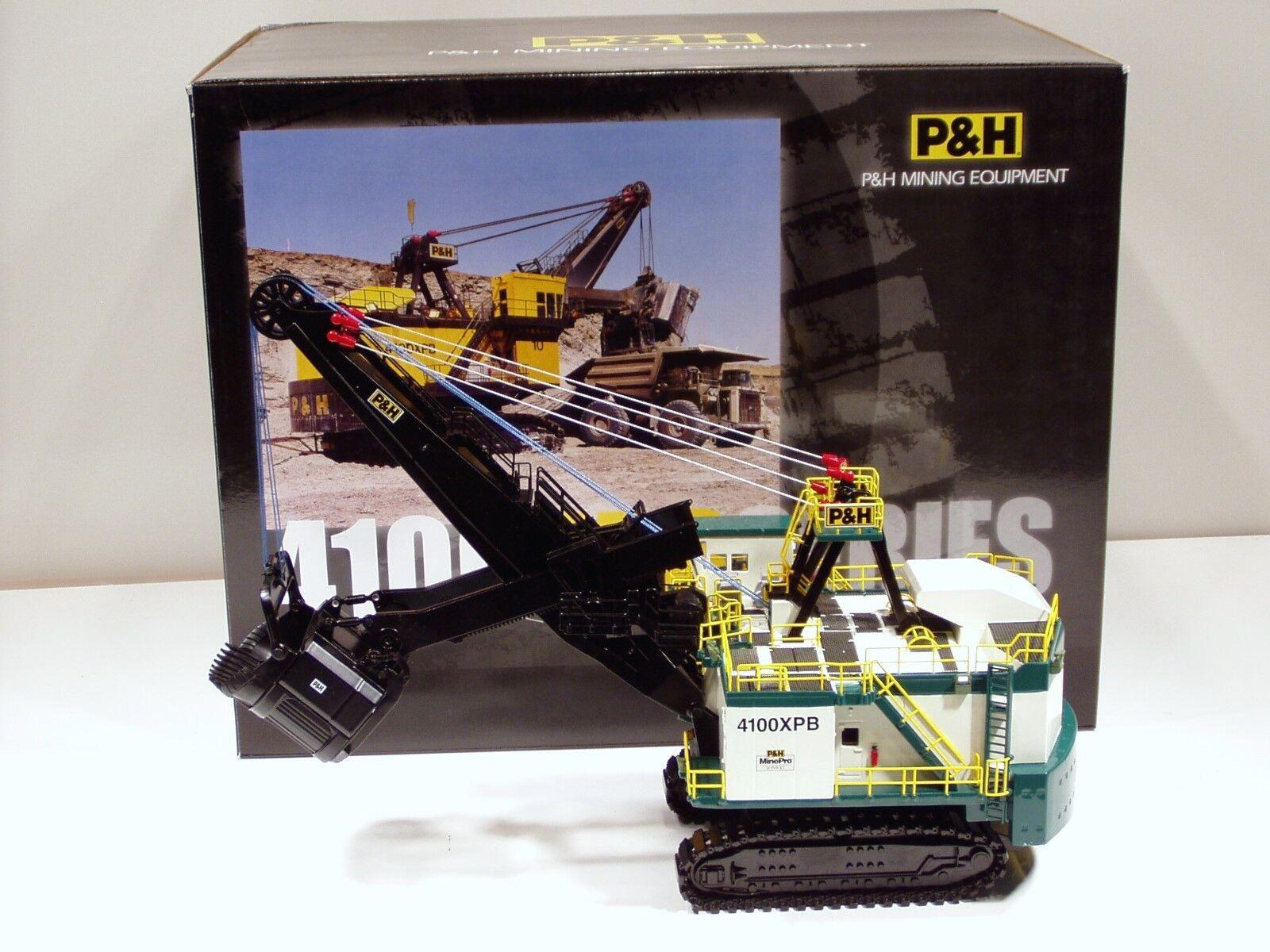 P&H 4100XPB 82 Yard Mining Shovel -  Weiß & Grün  - 1 87 - Sword  SW9005W