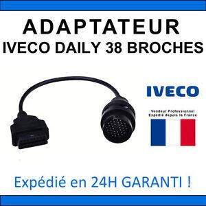 Cable-Adaptateur-Diagnostic-OBD-OBD2-vers-38-pins-Iveco-DAILY-connecteur
