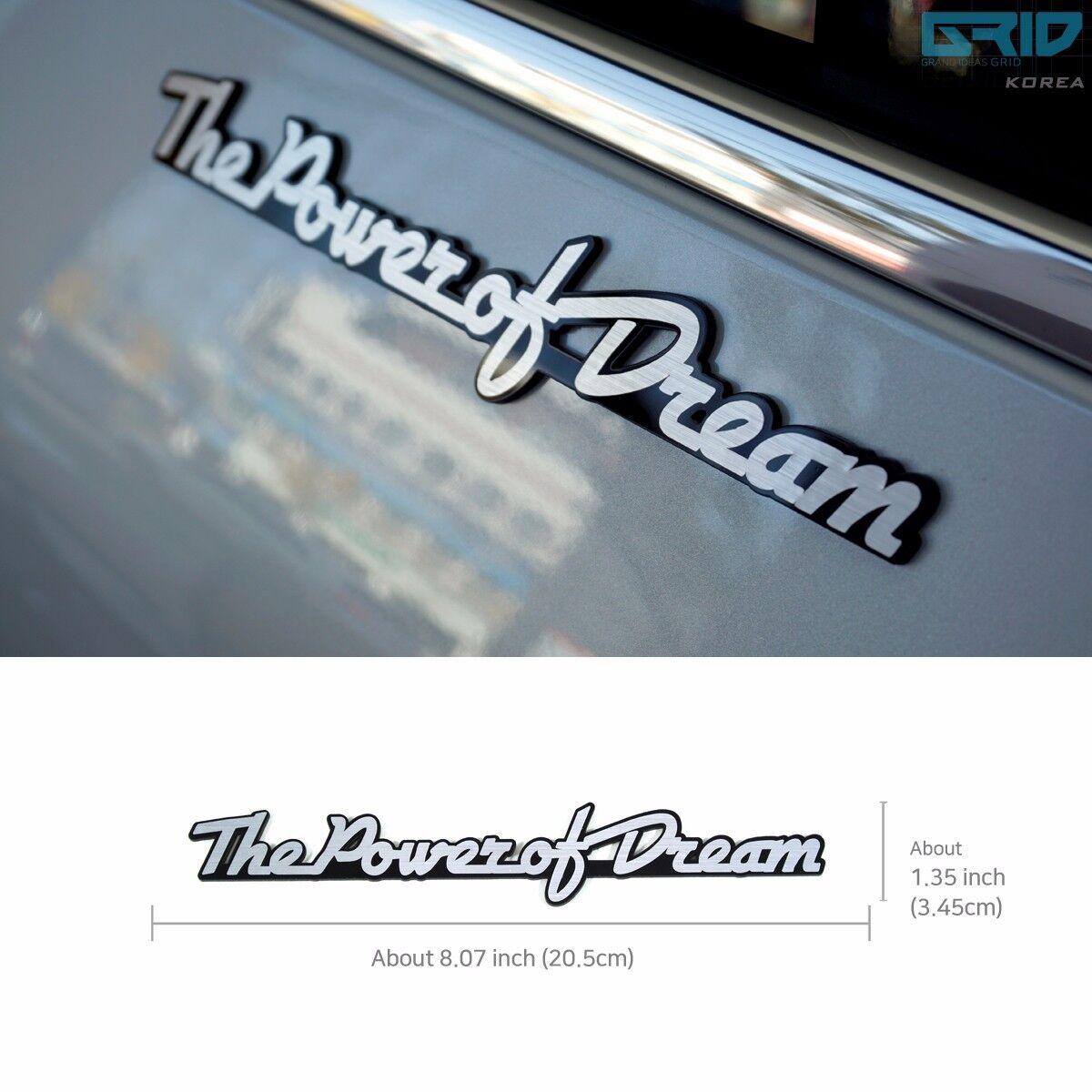 Griben Car Lettering Slogan Emblem Silver Badge 30081A for HONDA