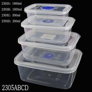 Image is loading Small-Medium-Large-Size-Plastic-Clear-Storage-Food- & Small Medium Large Size Plastic Clear Storage Food Box Container ...