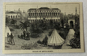 1885-magazine-engraving-PALACE-OF-SULTAN-ABDUL-HAMID-Turkey