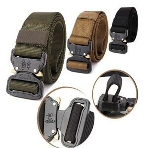 eea3c5c5f00 Image is loading Outdoor-Heavy-Duty-Military-Tactical-Belt-Training-Strap-