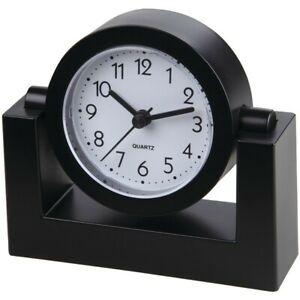 TIMEKEEPER-TK6851-4-034-Swivel-Black-Desktop-Clock