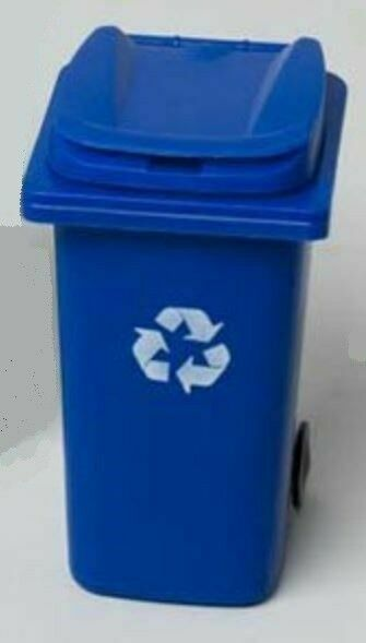 "18/"" doll blue recycle box bin for Our generation American Girl"